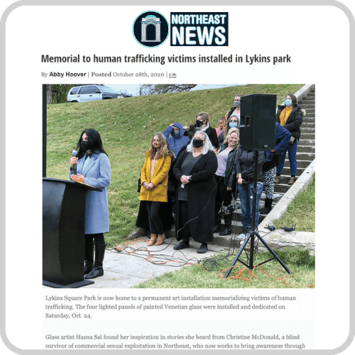 Northeast News – Memorial To Human Trafficking Victims Installed In Lykins Park